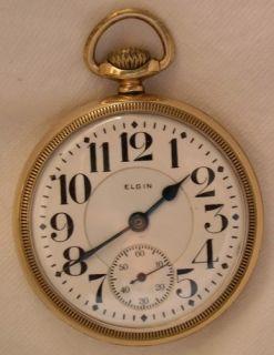Antique Elgin B w Raymond 21 J 16sz Pocket Watch C1932