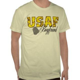 USAF Boyfriend T Shirts