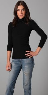 James Perse Long Sleeve Fitted Turtleneck
