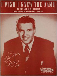 Wish I Knew The Name Roberts and Lee Jack Smith Sheet Music