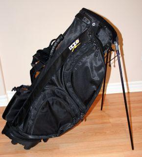 Izzo Golf Bag Carry Bag Stand Bag with Hood Black for Nike Titeleist