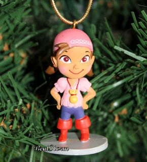 New Disney Izzy Girl Christmas Holiday Ornament PVC Jake and Neverland