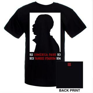 Jay Z Silhouette T Shirt Yankee Stadium Concert Tour Tee Black x Large