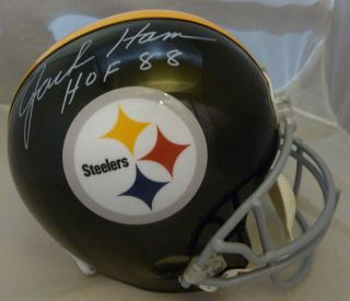 Jack Ham Autographed Signed Pittsburgh Steelers Full Size Helmet w
