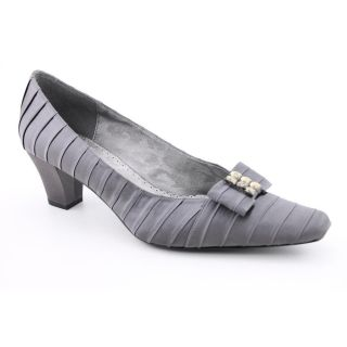 Renee Felicity Womens Size 6 5 Gray Wide Fabric Pumps Classics Shoes
