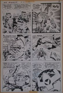 Jack Kirby Original Art 1972 Mr Miracle 10 Action Page Featuring Barda