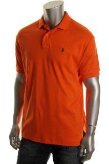 Ralph Lauren New Orange Short Sleeve Knit Polo Shirt L BHFO