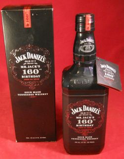 Jack Daniels Old No 7 Brand Mr Jacks 160th Birthday Bottle Excellent