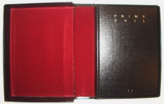 Stephen KING SIGNED Prime EVIL CLIVE Barker++ LEATHER w/BOX 1st