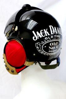 Jack Daniels Black Air Jet Helicopter Pilot Fighter Helmet