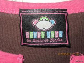 Bobby Jack 2 Sided Brown T Shirt Girls Size Medium 10 12 Super Cute