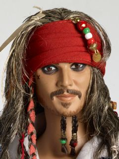 T12DYDD01 Captain Jack Sparrow Pirates of The Caribbean Tonner Doll