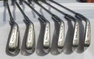 Set of Jack Nicklaus Professional The Bear Irons Right Handed Crank