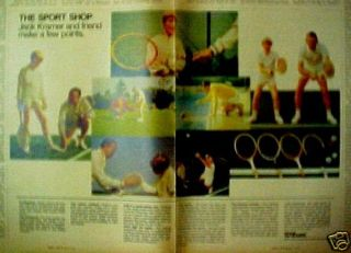 1970 Jack Kramer Wilson Tennis Rackets Sports Trade Ad