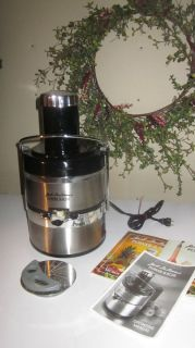 Jack Lalanne Power Juicer Extractor (Stainless Steel) W/Manual Gently