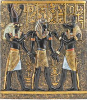 Ancient Egyptian Wall Sculpture Horus Rameses I Anubis Wall Frieze