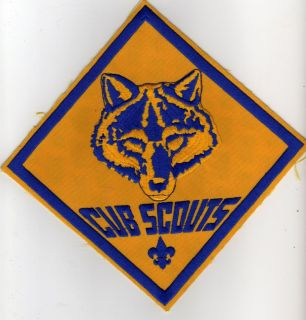 Large Cub Scout Jacket Patch 8 5 x 8 5 with BSA 2010 Backing Mint