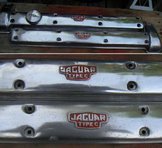 Authentic Jaguar XK 140 C Type Cam Covers EX Condition