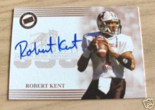 Robert Kent Auto Signed Jackson State Tigers Card