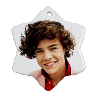 New One Direction Harry Styles Photo Christmas Ornament Snowflake B