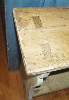 Excellent Antique Mortised Crock Bench Bucket Bench Best Form