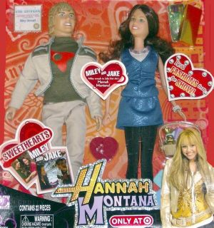 READY DISNEY HANNAH MONTANA MILEY JAKE DOLL SET W ACCESSORIES 22PCS