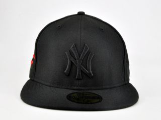 Jay Z New Era Yankee All Black Everything 59Fifty Fitted Cap