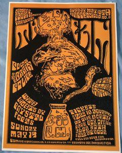 Cream Eric Clapton Concert Poster San Diego CA 68