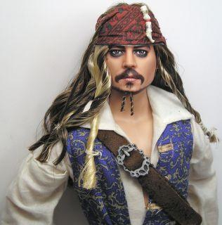 OOAK Johnny Depp Jack Sparrow Barbie Doll Art Repaint by Pamela Reasor