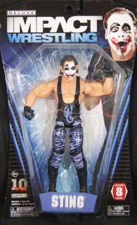 Sting Joker Sting TNA Deluxe Impact 8 Toy Wrestling Action Figure