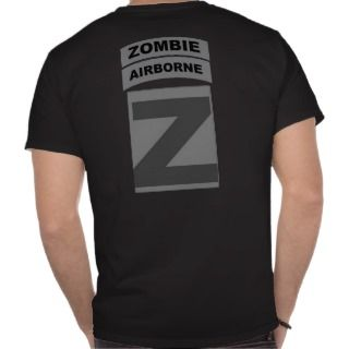 Zombie Airborne Patch and Tab Shirt