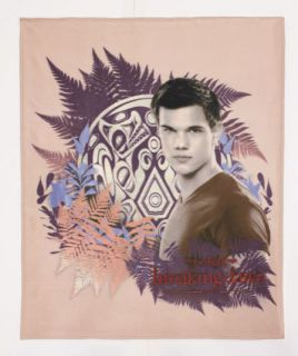 60 Twilight Breaking Dawn Jacob Taylor Fleece Throw Blanket