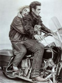 Marilyn Monroe James Dean Motorcycle Poster Print E91A