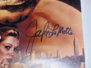 Jake LaMotta Signed Raging Bull Movie Poster JSA Witness Protection