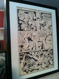 Jack Kirby Original Kamandi 31 Page 8 Professionally Framed
