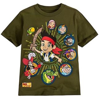 Jake and The Never Land Pirate Army Green Tee T Shirt for