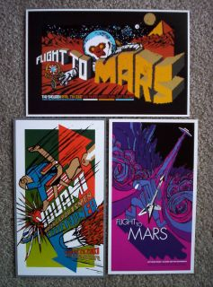 Pearl Jam Flight to Mars Concert Mini Posters Set UFO Tribute Band