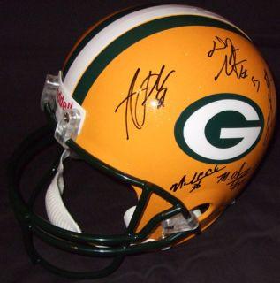 Bay Packers Team Signed Helmet Proof AJ Hawk James Jones Crosby