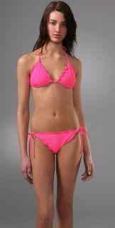 Shoshanna Electric Ruffle Triangle Bikini Top