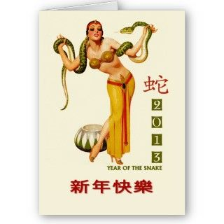 2013 Chinese New Year of the Snake Greeting Card