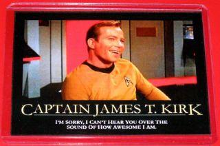 Star Trek Captain James T Kirk Ego Maniac LOL Magnet