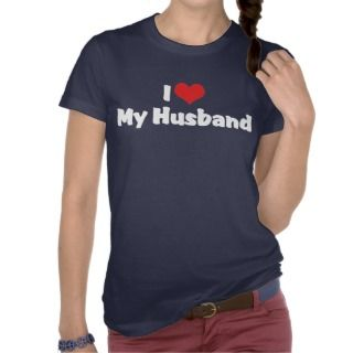 Love My Husband Dark T Shirt