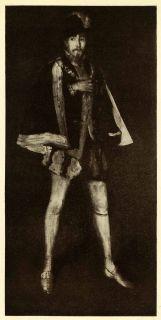 1911 Print James Abbott McNeill Whistler Art Portrait Henry Irving