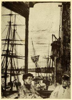 1911 Print James Abbott McNeill Whistler Art Rotherhithe London