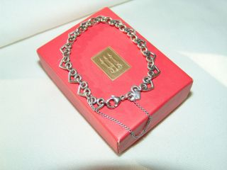 James Avery Sterling Silver Heart Link Charm Bracelet