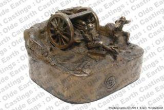 WW1 Royal Artillery 18 Pounder Cold Cast Bronze Figure Statue