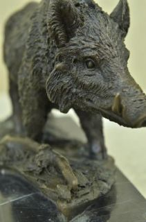 Boar Wild Pig Bronze Sculpture Statue by Barye Figure Farm Animal Lost