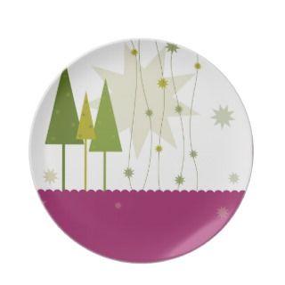 modern christmas plate