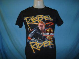 Vintage James Dean Harley Davidson Rebel T Shirt YM