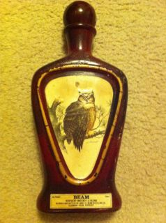 Jim Beam The Owl James Lockhart Whiskey Decanter Collectable